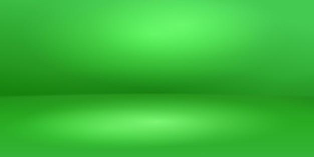Пустой студийный фон с мягким освещением в зеленых тонах