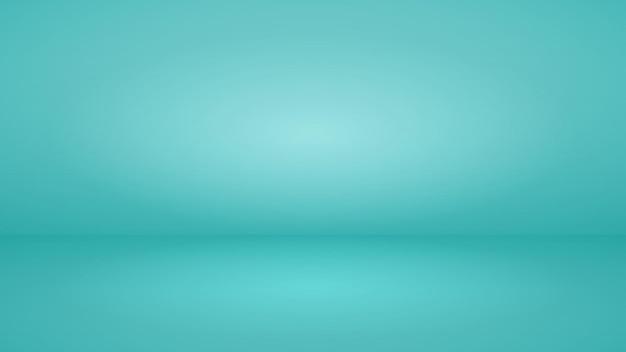 Пустой студийный фон с мягким освещением в голубых тонах