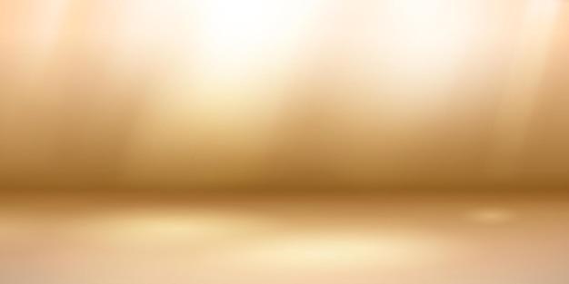 밝은 갈색 색상의 부드러운 조명이 있는 빈 스튜디오 배경