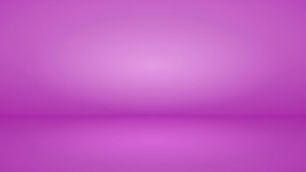 Пустой студийный фон с мягким освещением в фиолетовых тонах