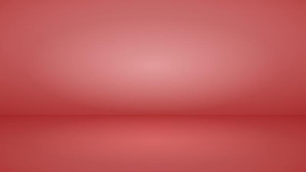 Пустой студийный фон с мягким освещением в красных тонах