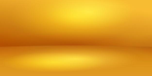 Пустой студийный фон с мягким освещением в желтых тонах