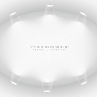 Empty studio lights background