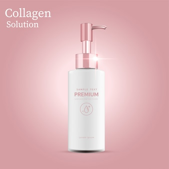 Empty template, plastic bottle simulation for body lotion for skin care.