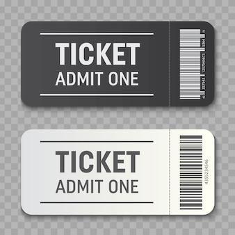 Empty ticket template  invitation coupons.