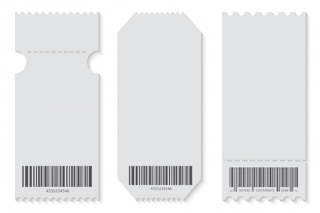 Empty ticket template