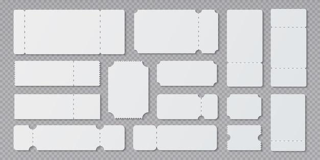 Иллюстрация шаблонов пустых билетов