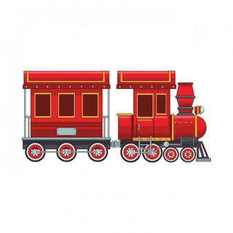 Empty train wagon and cabin