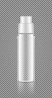 Макет пустой прозрачной бутылки для шампуня, геля, пены для ванн, очистителя