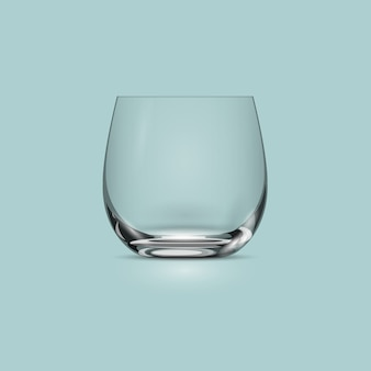 Empty transparent drinking glass cup
