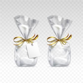 빈 투명 플라스틱 선물 가방