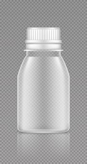 Макет пустой прозрачной пластиковой банки для дизайна упаковки