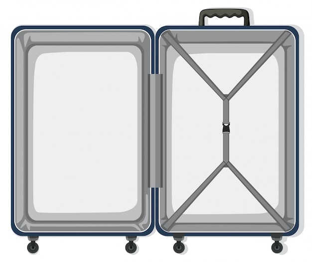 An empty travel luggage