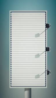 Tabellone per le affissioni verticale vuoto