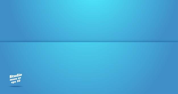 Empty vivid blue studio room background
