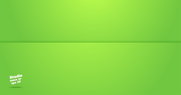 Empty vivid green lime studio room background