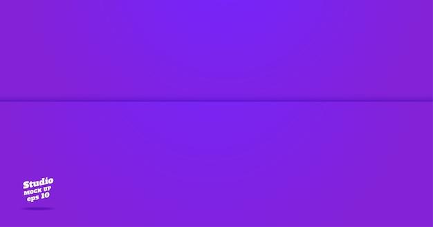 Empty vivid purple studio room background