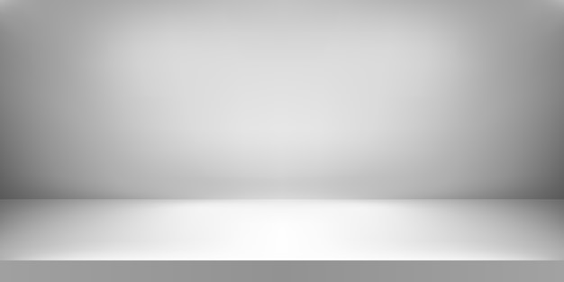 Empty white color studio. room background. product display with copy space for display of content .  illustration