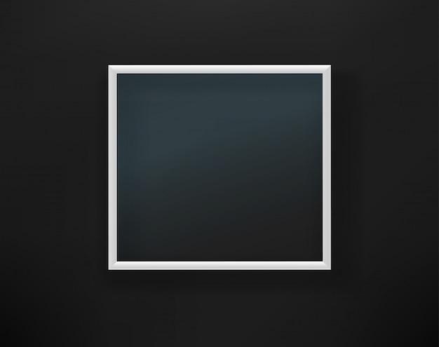 黒い壁にガラスと空の白いフレーム