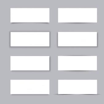 Empty white paper business banners