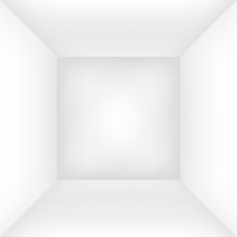 Empty white room or box. i