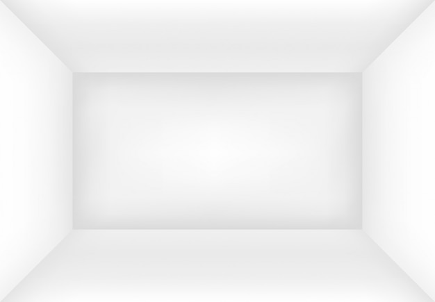 Empty white room or box. interior background mock up for your design.  illustration.