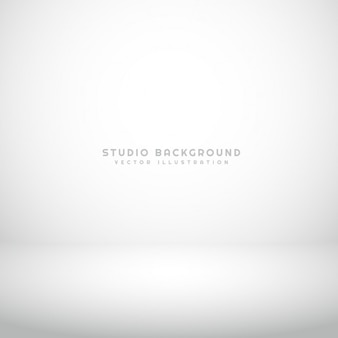 Empty white studio background