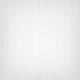 Empty white wooden room space for background.