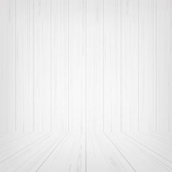 背景のための空の白い木製の部屋のスペース。