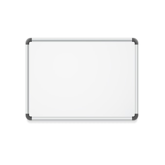 Empty whiteboard for business presentations