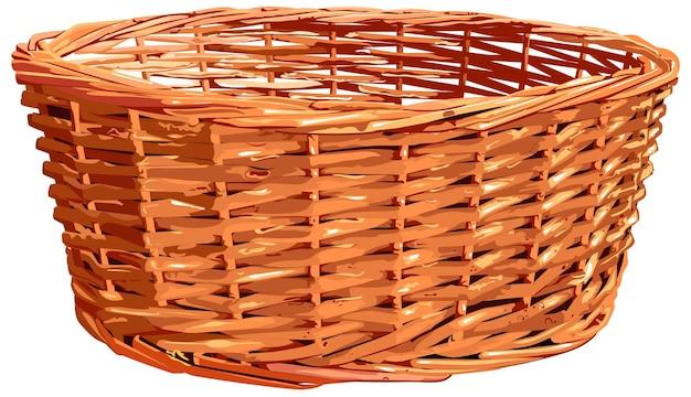 Пустая корзина из плетеной соломы для хлеба или цветов