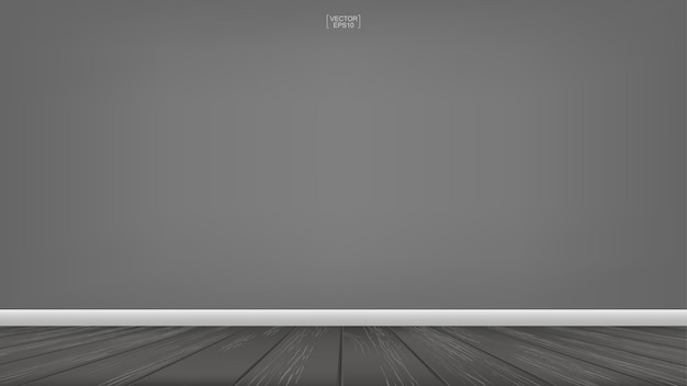 Empty wooden room space background. interior abstract background for design and decoration. vector illustration.
