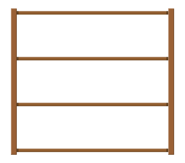 Empty wooden storage shelves.