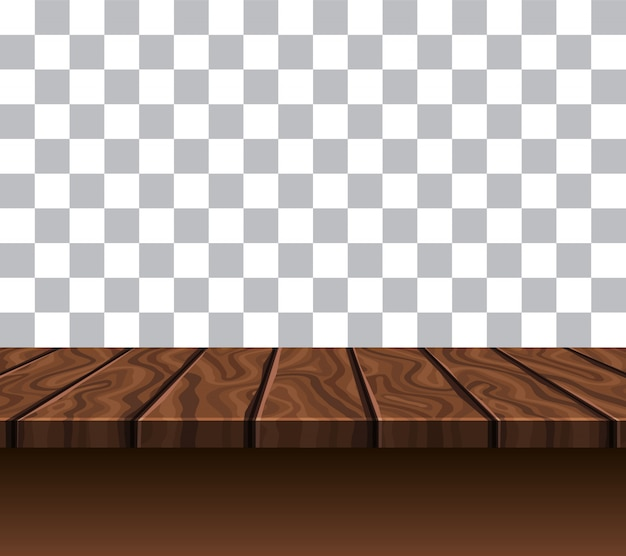 Empty wooden tabletop
