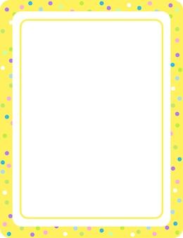 空の黄色の垂直フレームバナーテンプレート