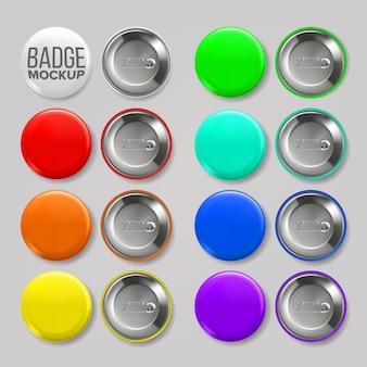 Enamel pins, pin badges set