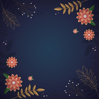 Enchanted beautifull blue floral background for cover and postcard