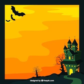 Enchanted castle background