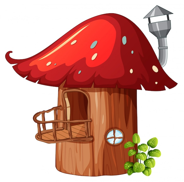 Enchanted mushroom wooden house