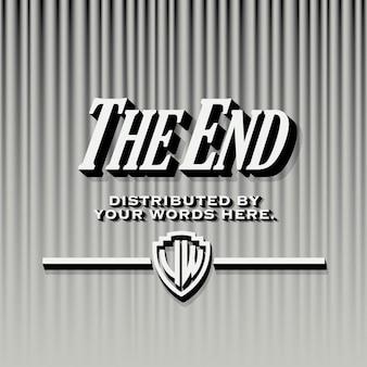 End credits шаблона