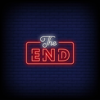 The end neon signs style text