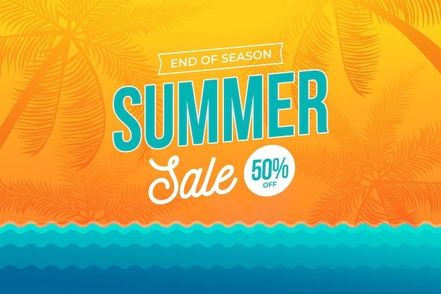 Концепция летней распродажи в конце сезона
