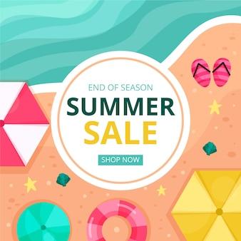 Конец сезона летней распродажи дизайна