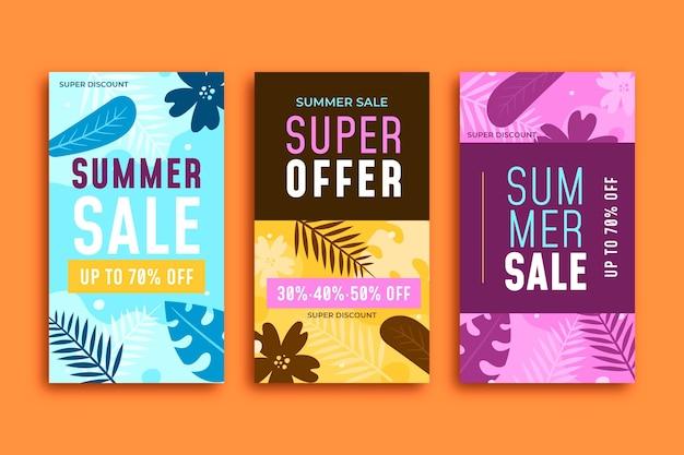 Конец сезона летняя распродажа инстаграм историй коллекция