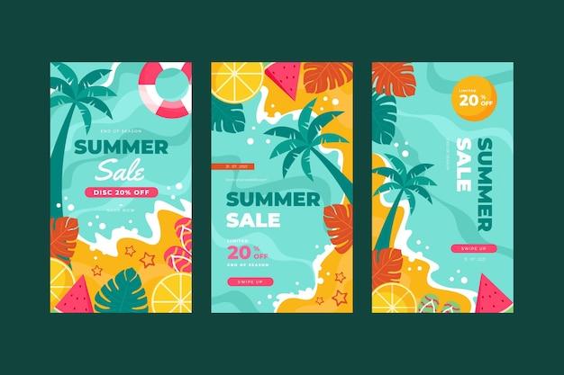 시즌 종료 여름 세일 인스 타 그램 스토리 컬렉션