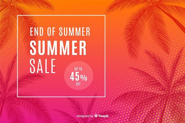 Конец летних распродаж Premium векторы