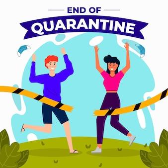 End of quarantine illustration