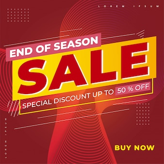 End of season sale header or title promotion product or services