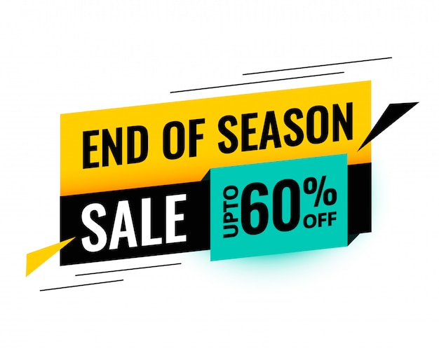 End of season sale template