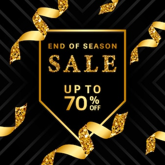 End of season sale up to 70% off sign